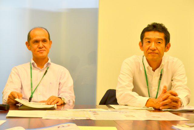 インタビューに応えていただいた、松本市商工観光部の小林氏と丸山氏