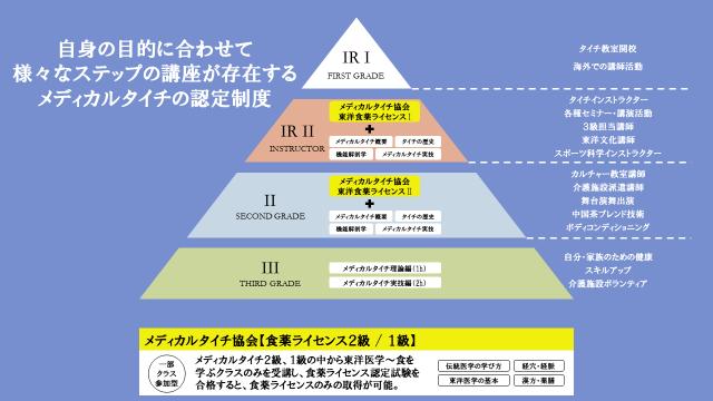 メディカルタイチ資格体系図