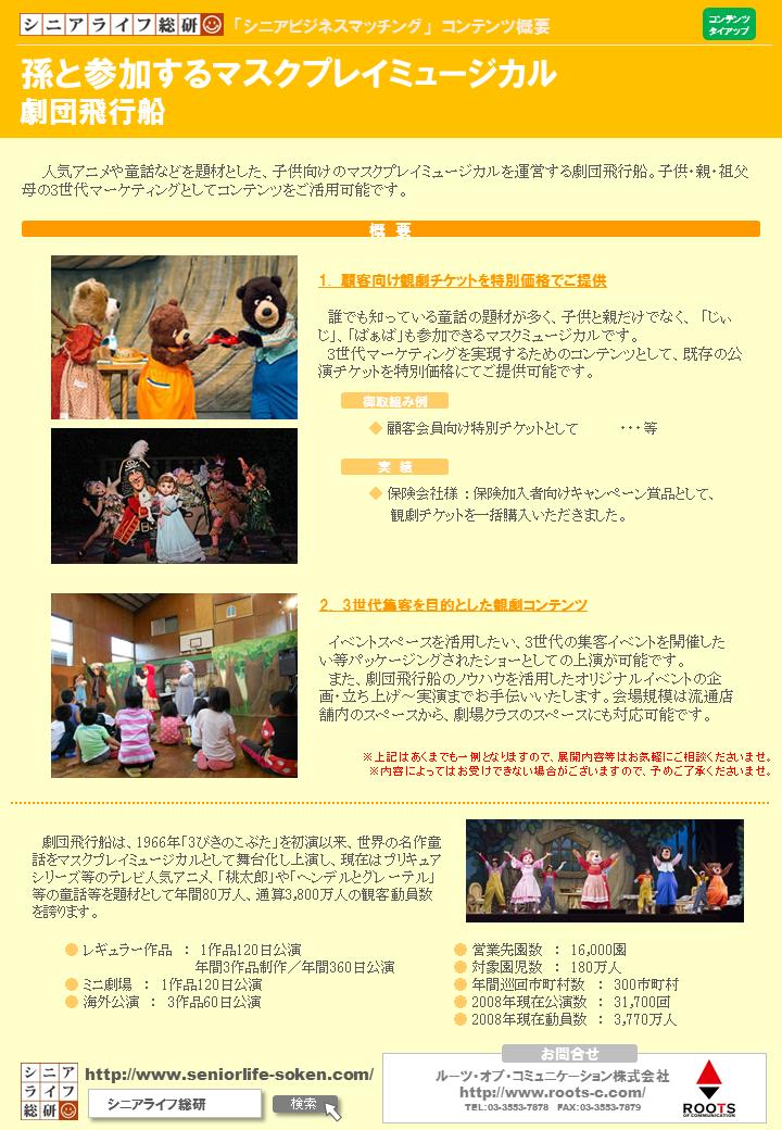 【シニアビジネスマッチング】劇団飛行船_詳細シート