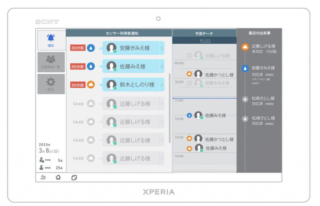 写真2:排泄検知の通知画面。右側には排泄リズムを自動算出する機能がある(イメージ画像)