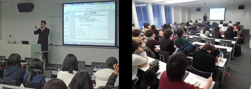 札幌市立大学での社外講義風景